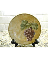 "222 Fifth Interiors Cheri Bloom Cortland 8 1/8"" Salad Plate fruit GRAPE - $3.75"