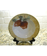 "222 Fifth Interiors Cheri Bloom Cortland 9 1/8"" Soup Bowl fruit APPLE - $3.75"