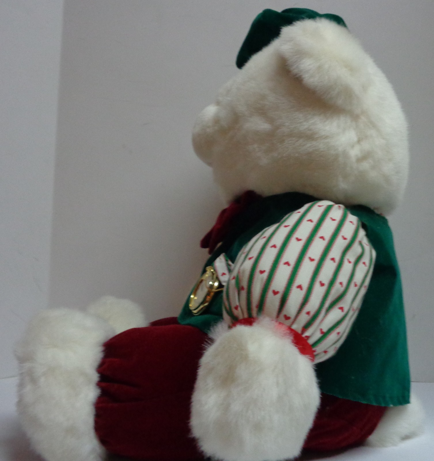 "Christmas Papa Bear w/Pocket Watch 21"" Plush Teddy 1992 Vintage"