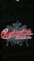 BUDWEISER PRAGUE Tee T Shirt Solid Black SIZE XL 'CHECK ME OUT' CZECH - $21.78