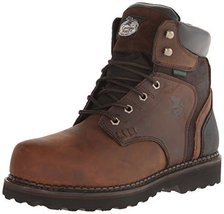 Georgia Boot Men's Brookville 6 Inch Work Shoe, Dark Brown, 8 M US - $98.99