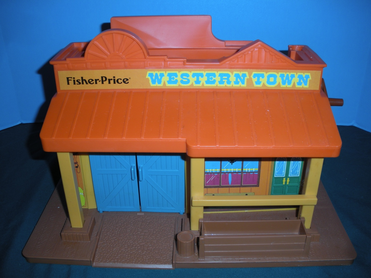 Vintage Fisher Price #934 Play Family Western Town 100% Complete MIB!!!
