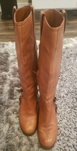 Ralph Lauren Womens Calvina Tan Leather Fashion Riding Boots Size 5.5 B - $60.76