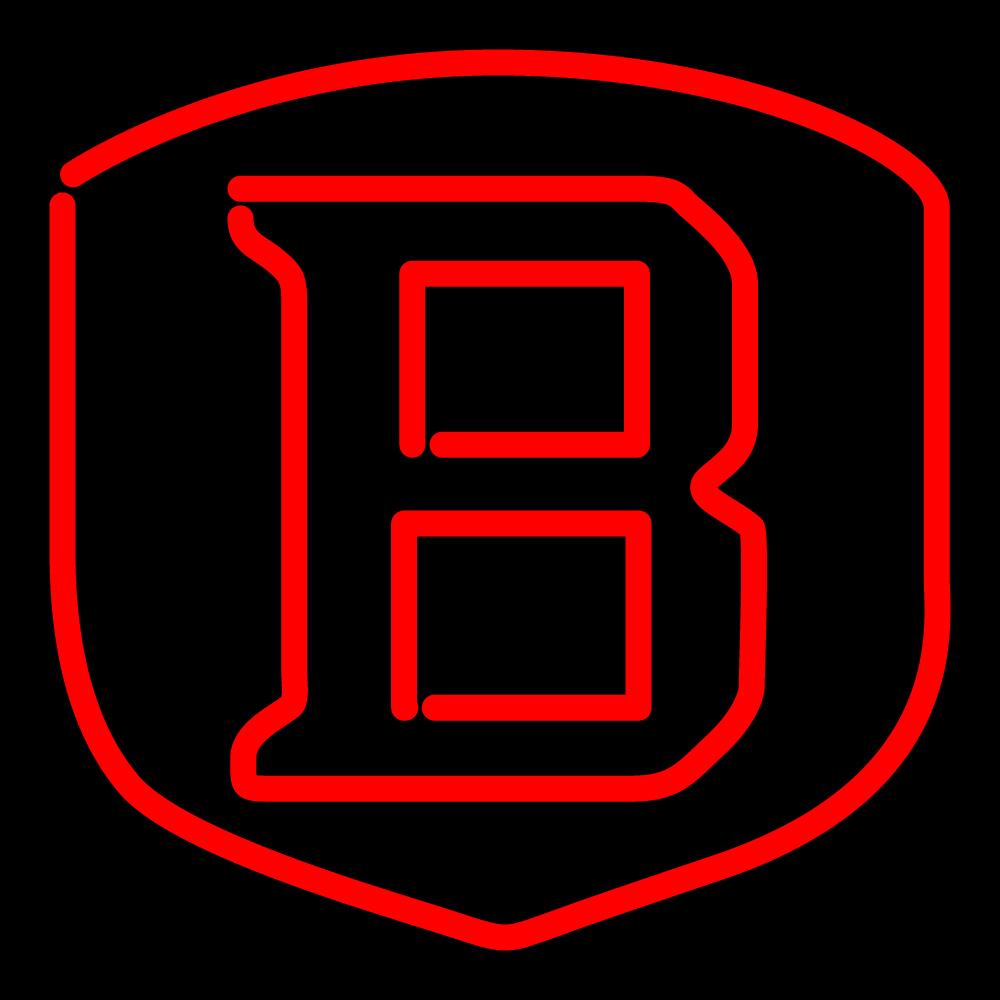 Ncaa bradley braves logo neon sign 16  x 16  1