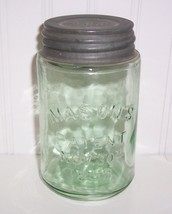Green Pint Mason's Patent Nov 30th 1858 Canning Fruit Jar Rare Crude w/B... - $59.40
