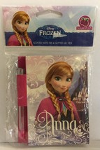 DISNEY FROZEN ANNA SKETCH & SNIFF NOTE PAD & GLITTER GEL PEN - Sugar Plu... - $5.39
