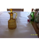 Amber Pressed Diamond Cruet - $74.25