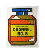 Vintage Mello Smello Chanel No 5 Sticker Scented Scratch and Sniff - $8.99