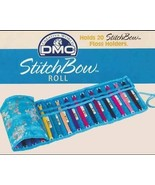Blue Floral StitchBow Roll floss organizer 26x8... - $9.50