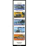 3095b, Special Die Cut Riverboats Strip of Five 32¢ Stamps - Stuart Katz - $23.95