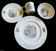 Child set of 4 Wedgwood England porcelain Beatrix Potter story MRS TIGGY... - $118.80