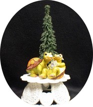 """IT""S ABOUT TIME"" Adorable Turtle Wedding Cake Topper Critter  top natur... - $51.38"