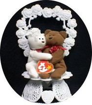TY BEANIE BABY Babies Wedding Cake topper Collector top funny teddy bears - $41.78