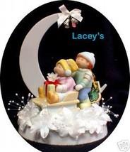 Winter Wonderland Sliding Cabbage Patch Figure Dolls Wedding Cake Topper Top - $48.51