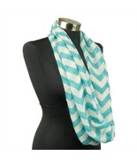 Chevron Sheer Infinity Scarf Soft Multi Color Scarves Turquoise Lightwei... - $7.69