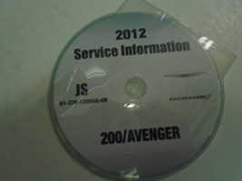 2012 DODGE AVENGER Service Shop Repair Manual CD DVD DEALERSHIP BRAND NE... - $246.50