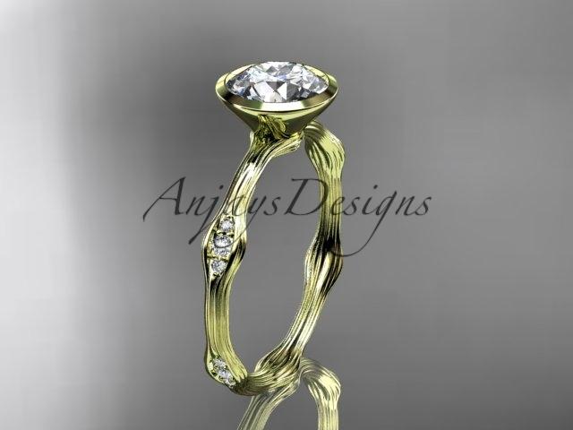 G21a yellow gold  diamond wedding ring  diamond engagement ring  forever brilliant moissanite  1