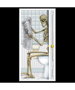 Fun Gothic SKELETON TOILET BATHROOM SHOWER DOOR... - $7.89
