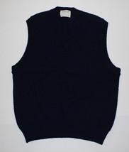 Mens Vintage Blue Sweater Vest The Moors 100% Pure Shetland Wool Sz L Ma... - $32.99