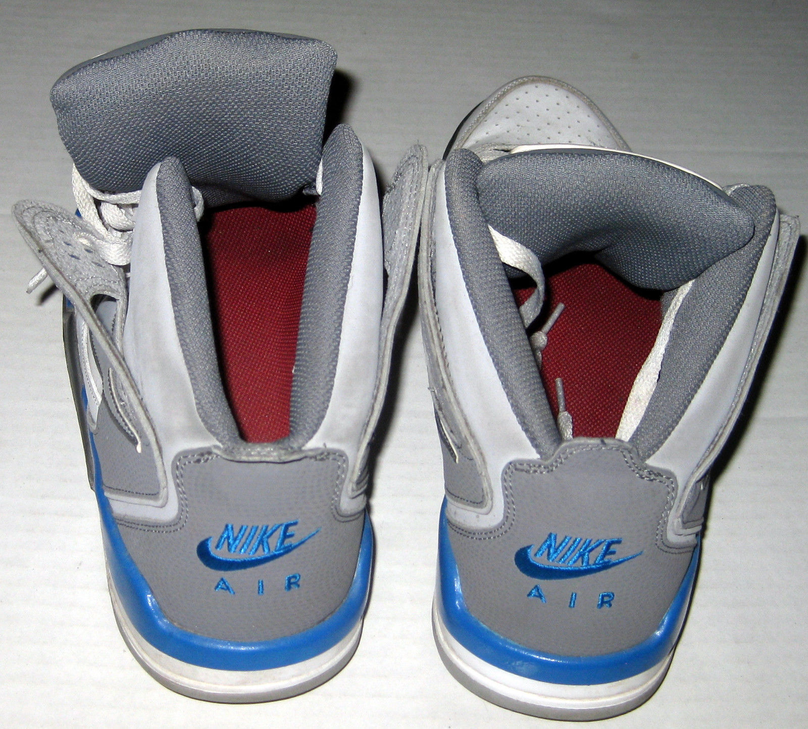 the best attitude 6f621 041ac ... Nike Air Flight Falcon Shoes Size 10.5 White Gray Blue ...