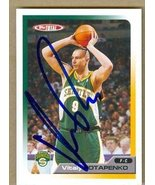 Vitaly Potapenko autographed Basketball Card (Seattle Sonics) 2006 Topps... - $13.00