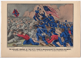 54th MASSACHUSETTS COLORED REGIMENT FORT WAGNER... - $99.99