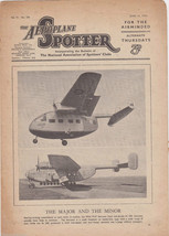 AEROPLANE SPOTTER VINTAGE WWII GRAPHIC MILITARY... - $39.99