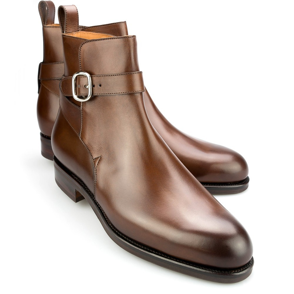 Handmade men Jodhpurs brown ankle boot, Men fashion ankle real leather boot