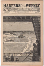 COBEY ISLAND NEW YORK OVERLOOK ILLUSTRATION ANT... - $74.99