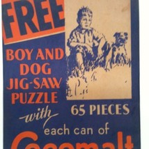 COCOMALT PICTURE PUZZLE VINTAGE CHOCOLATE MILK PROMO AD BY RB DAVIS CO - $74.98