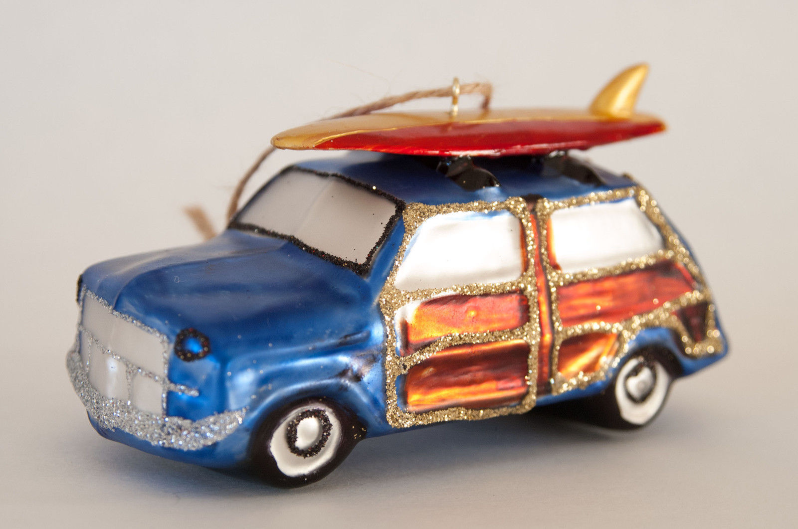Primary image for Pottery Barn station wagon Christmas ornament