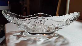 Vintage Anchor Hocking Crystal Boat Bowl Early American Prescut Crystal Relish D - $20.00