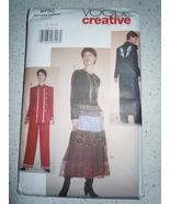 Vogue Creative Clothing Misses Size 12-16 Jacket Skirt & Pants #9750 - $9.99