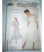Simplicity Gunne Sax Misses & Misses Petite Dress Size 12  #8610 New 1988 - $9.99