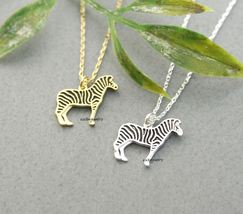 Zebra Pendant Necklace In Gold / Silver - $11.50