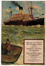 SOUTHERN PACIFIC STEAMSHIPS NEW YORK NEW ORLEAN... - $64.99