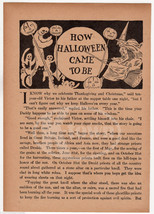 THE STORY OF HALLOWEEN ANTIQUE GRAPHIC ART CHIL... - $44.99