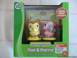 Owl&Parrot-Figure Set with Board Book-Learning Friends-Leap Frog-2014,It... - $10.99
