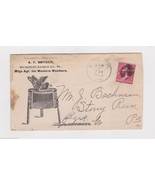 WESTERN WASHERS EARLY WASHING MACHINE ANTIQUE ADVERTISING STAMPED MAIL C... - $99.99
