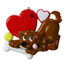 2496 Dog Lover Hand Personalized Christmas Ornament [Kitchen] - £9.02 GBP