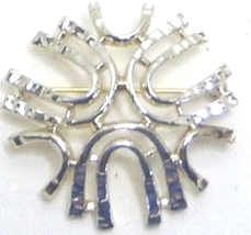 Vintage Sarah Coventry Silver Tone Pin Brooch - $12.99