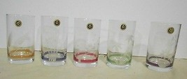 Set of five Otsuka Glasses 6 oz Made In Japan - $15.10
