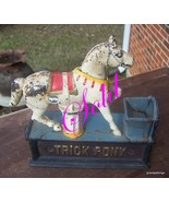 COLLECTIBLE TRICK PONY MECHANICAL BANK CAST IRON BANK Lot # 50 - $125.00