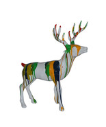 "Modern Art colorful Deer Resin Statue - Size: 17""L x 11""W x 18""H. - $240.00"
