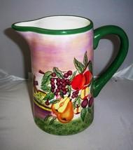 Ceramic Fruit Orchard Pitcher / Vase / Planter by I Godinger & Co - $8.99