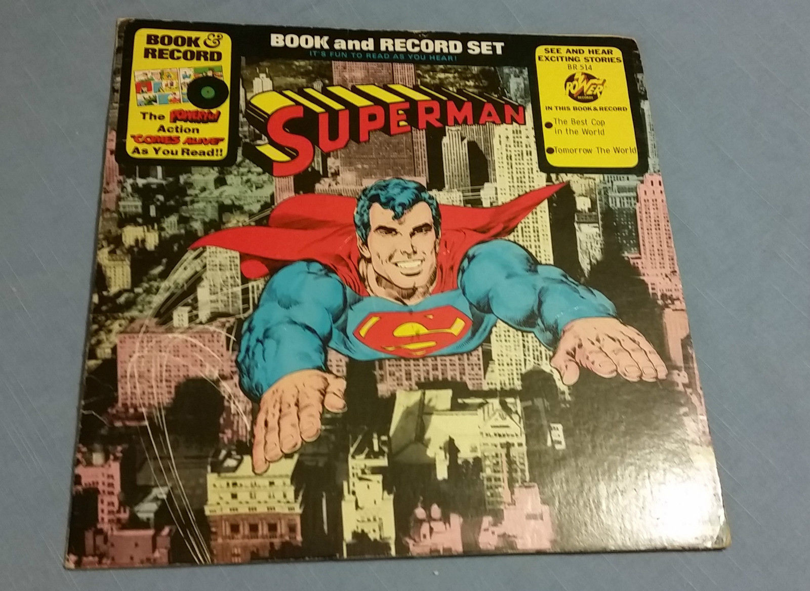 Vintage Superman Power Records LP Vinyl Comic Story BR154 – Kid Owned