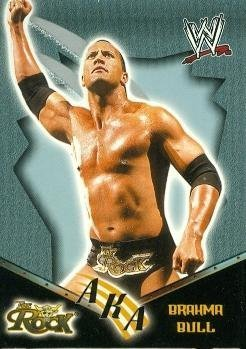 The Rock Brahma Bull Trading Card (Wrestling) 2002 Fleer AKA #81