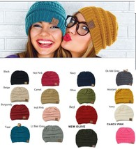 Pick Any One- C.CThick Slouchy Knit Beanie Oversize Warm Cap Casual Unis... - ₨577.33 INR