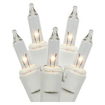 Clear Christmas Lights, White Wire (100 Count) - $10.95