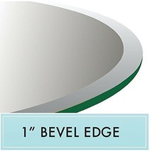 "30"" Round Clear Tempered Glass Table Top 1/2"" Thick 1"" Bevel Edge - $77.43"
